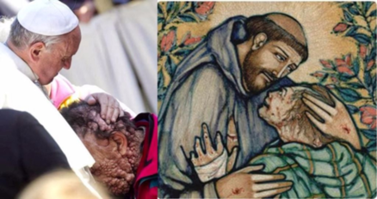 The Pope and St Francis of Assisi